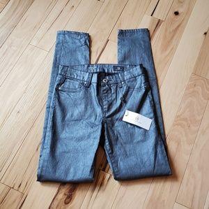 AG Adriano Goldschmied 14 Metallic Twiggy Pants